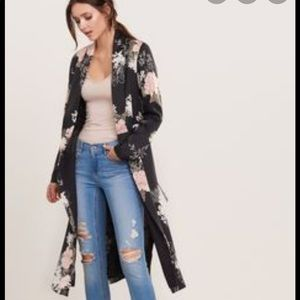 Dynamite floral duster cardigan
